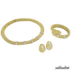 Sabbadini Yellow Gold Diamond Suite
